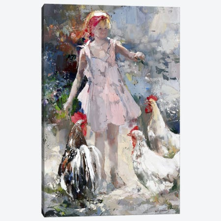 Feathered Friends Canvas Print #HAE124} by Willem Haenraets Canvas Wall Art