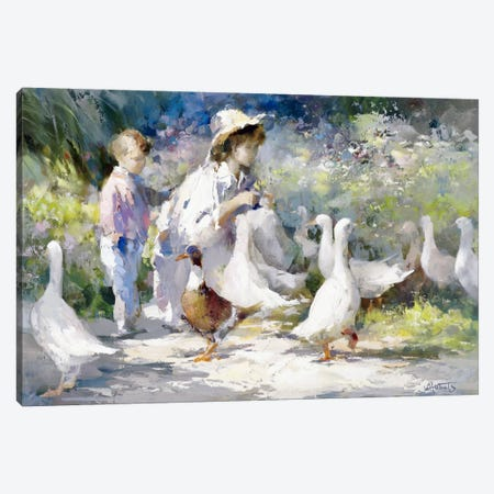Feeding Time Canvas Print #HAE125} by Willem Haenraets Canvas Artwork
