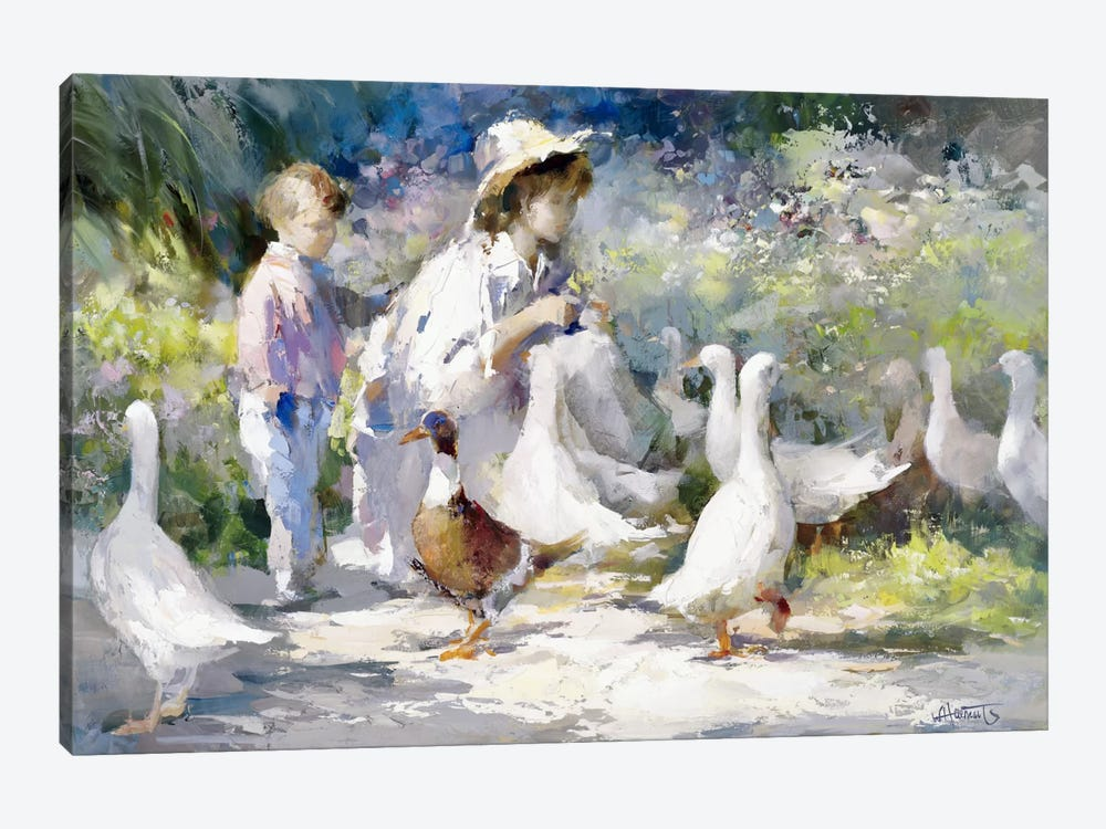 Feeding Time by Willem Haenraets 1-piece Art Print