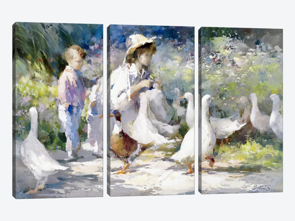 Feeding Time by Willem Haenraets 3-piece Art Print