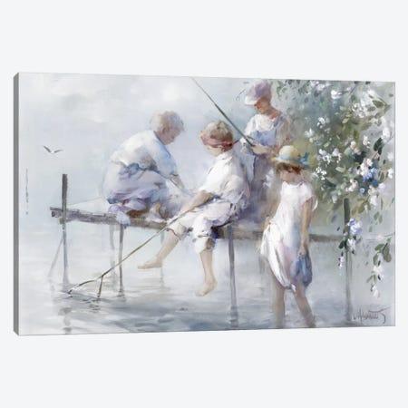 Fishing Fun Canvas Print #HAE126} by Willem Haenraets Canvas Artwork