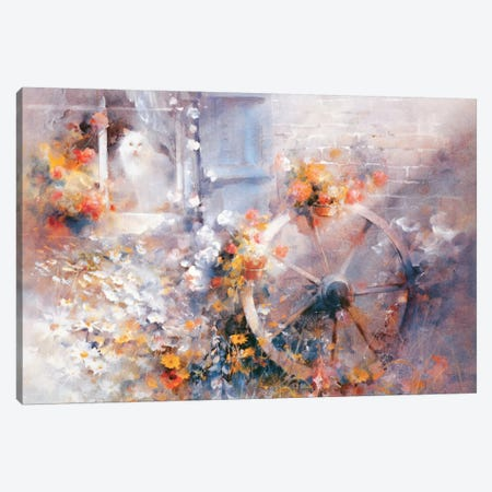 Floral Cottage Canvas Print #HAE129} by Willem Haenraets Canvas Art Print