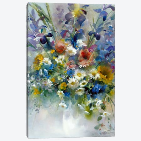 Floral Impression Canvas Print #HAE130} by Willem Haenraets Canvas Artwork