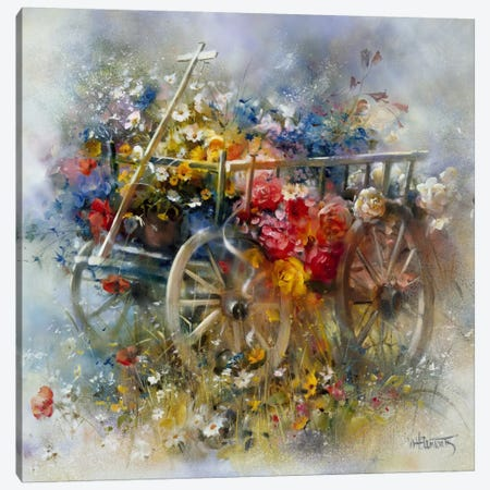 Flower Barrow Canvas Print #HAE132} by Willem Haenraets Canvas Wall Art