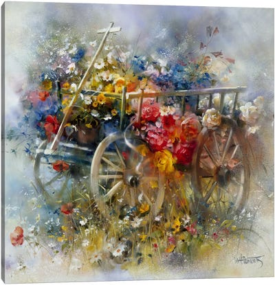 Flower Barrow Canvas Art Print