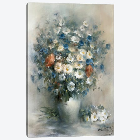Flower Bouquet Canvas Print #HAE133} by Willem Haenraets Canvas Wall Art