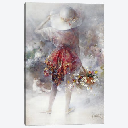 Flower Girl Canvas Print #HAE134} by Willem Haenraets Canvas Print