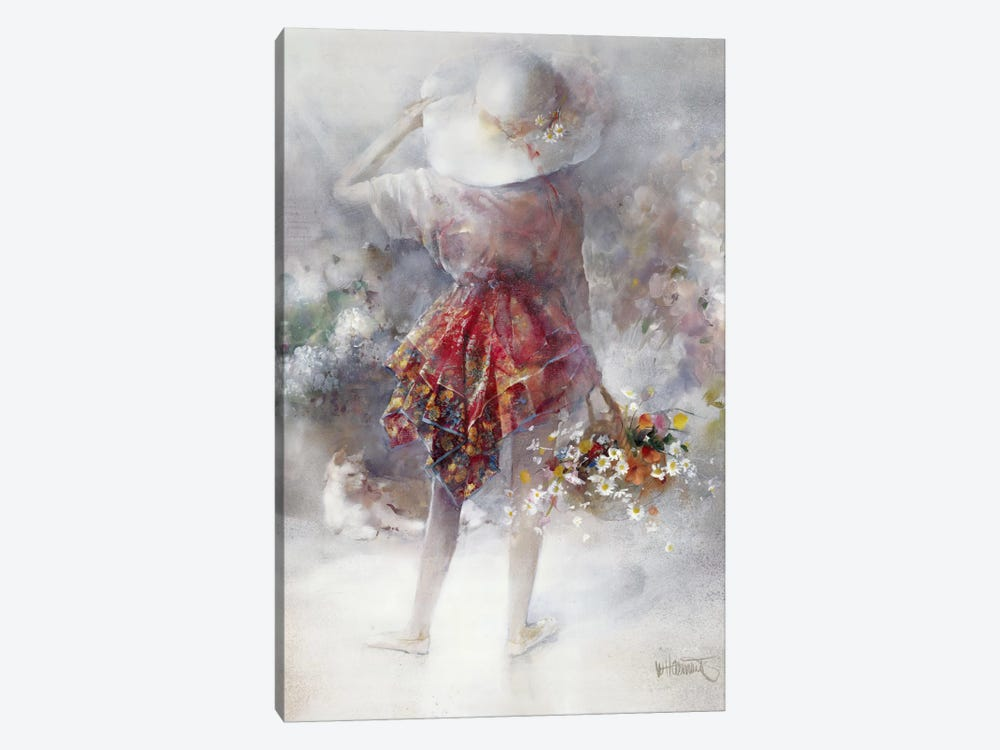 Flower Girl by Willem Haenraets 1-piece Art Print