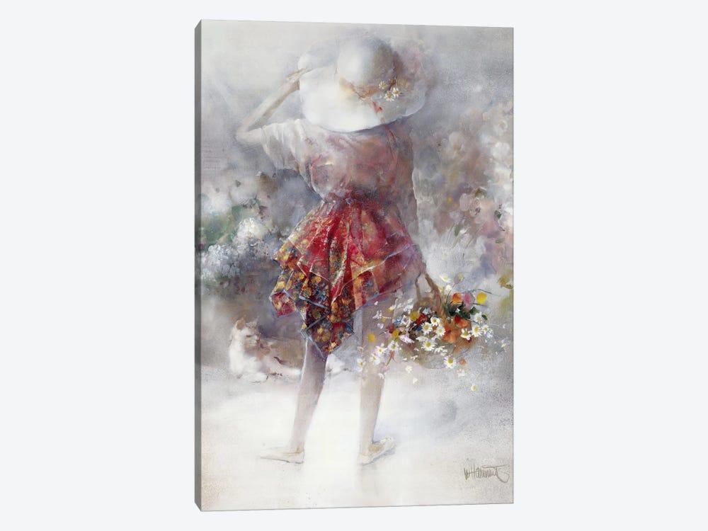 Flower Girl by Willem Haenraets 1-piece Art Print