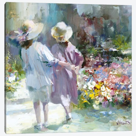 Girls Canvas Print #HAE147} by Willem Haenraets Canvas Artwork