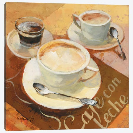 Cafe Grande II Canvas Print #HAE14} by Willem Haenraets Canvas Art