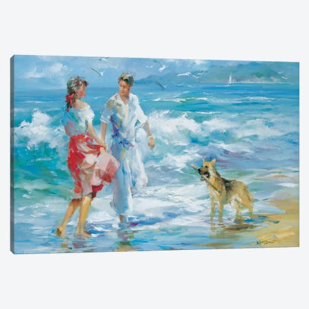 Happy Family I Canvas Print #HAE152} by Willem Haenraets Canvas Artwork
