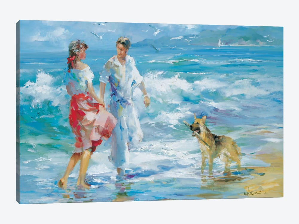 Happy Family I by Willem Haenraets 1-piece Canvas Print