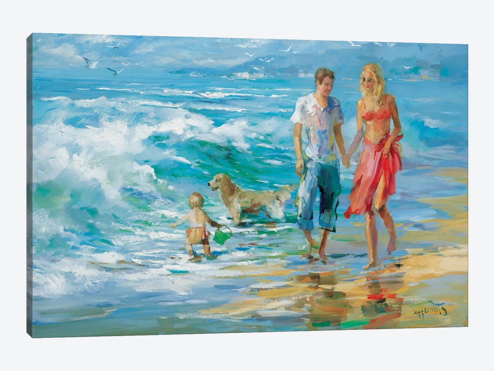 Happy Family II by Willem Haenraets 1-piece Canvas Wall Art