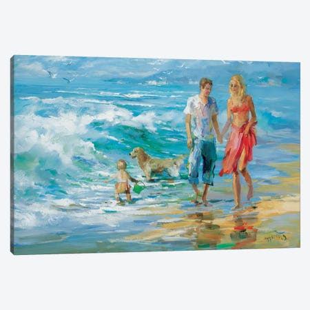 Happy Family II 3-Piece Canvas #HAE153} by Willem Haenraets Canvas Artwork