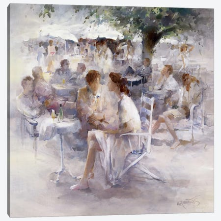 Happy Hour Canvas Print #HAE154} by Willem Haenraets Art Print