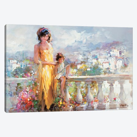 Happy Together Canvas Print #HAE155} by Willem Haenraets Art Print