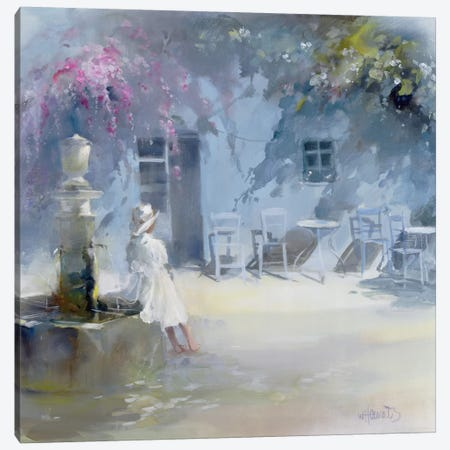 Idyllic Blue Canvas Print #HAE159} by Willem Haenraets Canvas Wall Art