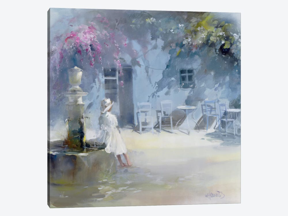 Idyllic Blue by Willem Haenraets 1-piece Canvas Art