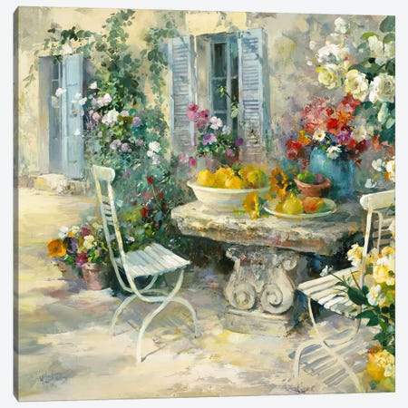 Idyllic Garden Canvas Print #HAE160} by Willem Haenraets Canvas Art Print