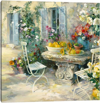 Idyllic Garden Canvas Art Print