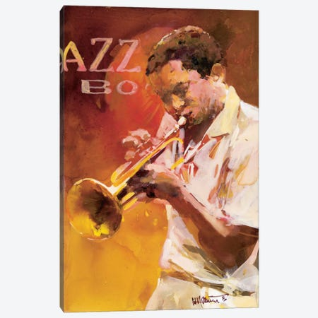 Jazzman I Canvas Print #HAE166} by Willem Haenraets Canvas Wall Art