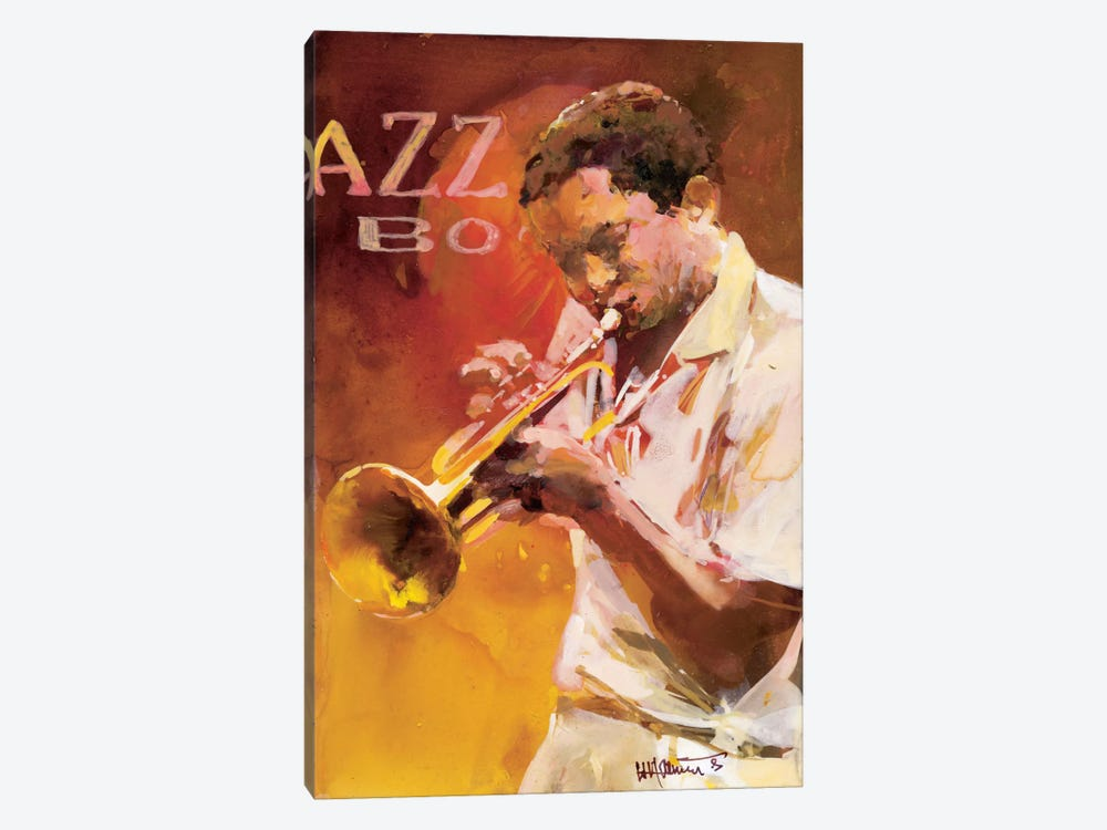 Jazzman I by Willem Haenraets 1-piece Canvas Wall Art