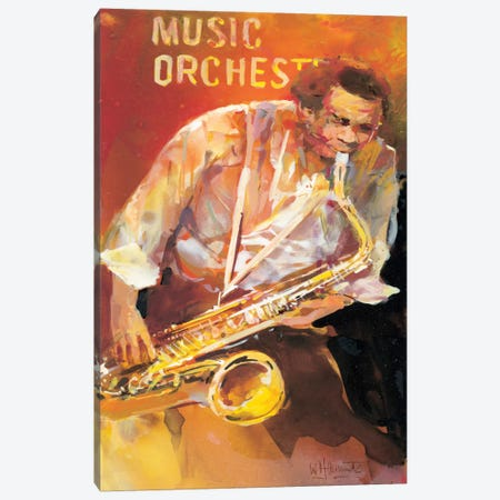Jazzman II Canvas Print #HAE167} by Willem Haenraets Canvas Wall Art