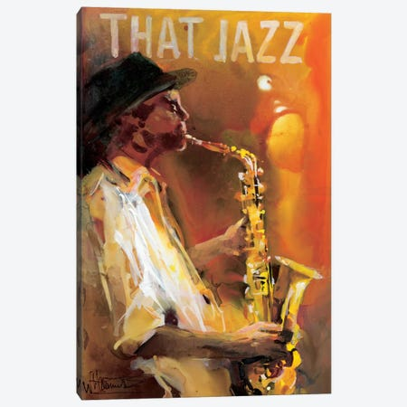 Jazzman IV Canvas Print #HAE169} by Willem Haenraets Canvas Art Print