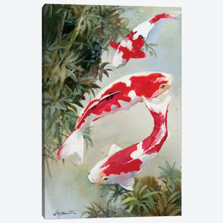 Koi I Canvas Print #HAE172} by Willem Haenraets Canvas Artwork