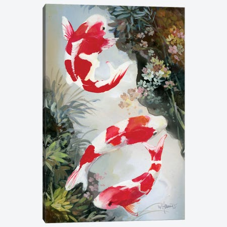 Koi III Canvas Print #HAE174} by Willem Haenraets Art Print