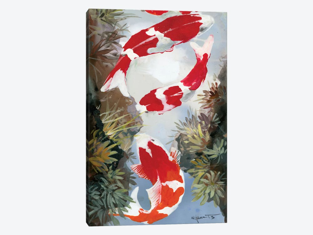 Koi IV 1-piece Canvas Wall Art