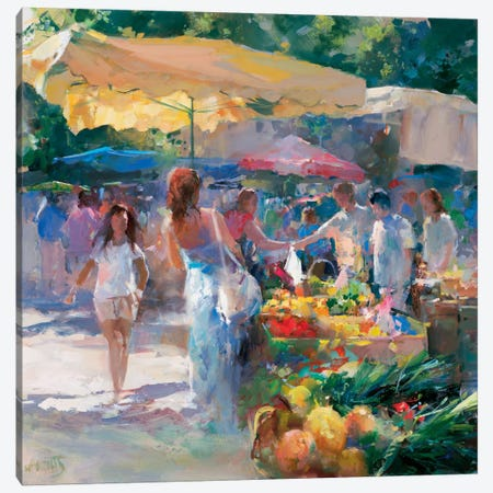 Market Tuni Canvas Print #HAE183} by Willem Haenraets Canvas Art Print