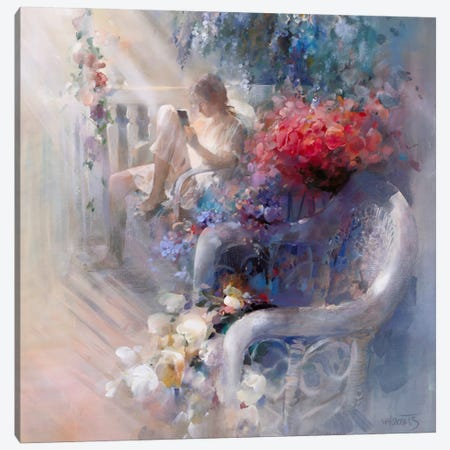Morning Silence Canvas Print #HAE187} by Willem Haenraets Canvas Wall Art