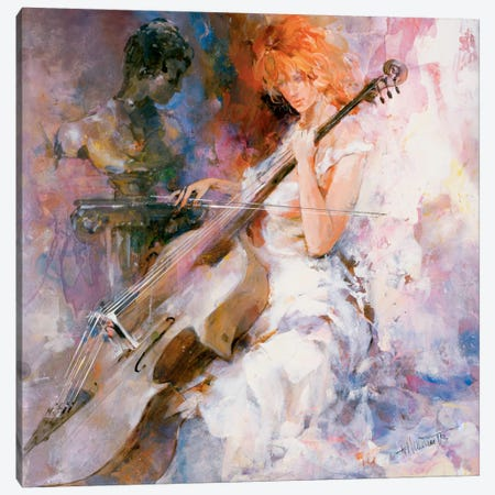 Musical Moments Canvas Print #HAE188} by Willem Haenraets Canvas Art Print