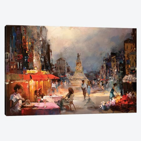 Café Rouge II Canvas Print #HAE18} by Willem Haenraets Canvas Print