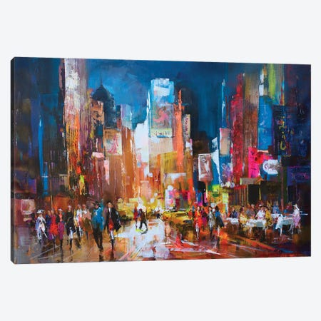 New York Canvas Print #HAE193} by Willem Haenraets Canvas Wall Art