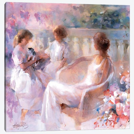 Our Kitten Canvas Print #HAE196} by Willem Haenraets Art Print