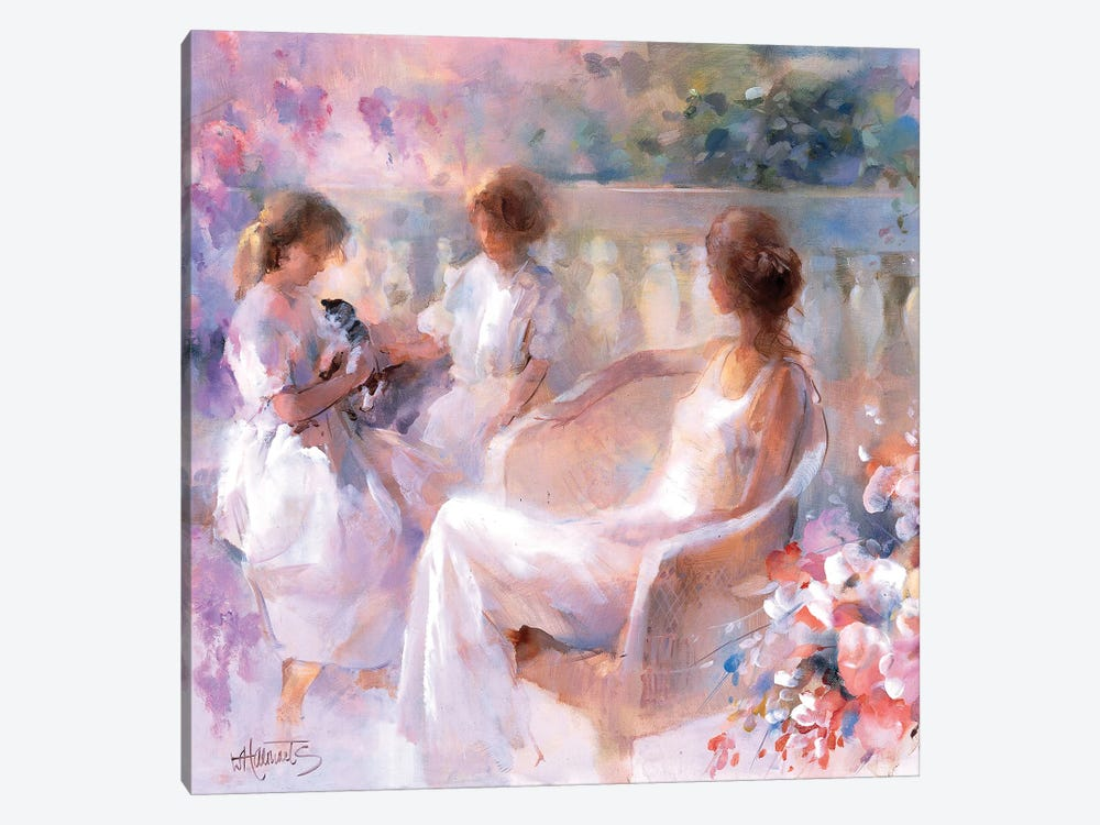Our Kitten by Willem Haenraets 1-piece Canvas Art Print