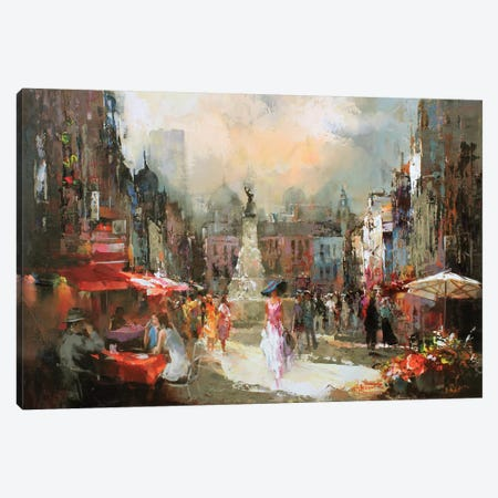 Café Rouge III Canvas Print #HAE19} by Willem Haenraets Art Print
