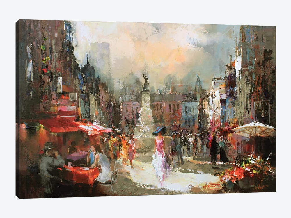 Café Rouge III by Willem Haenraets 1-piece Canvas Wall Art