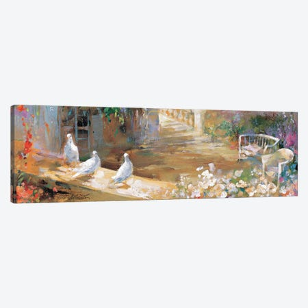 Peaceful Yard 3-Piece Canvas #HAE200} by Willem Haenraets Canvas Art