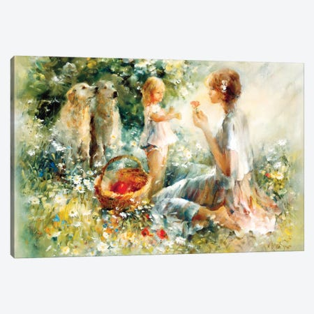 Picnic Canvas Print #HAE201} by Willem Haenraets Canvas Wall Art