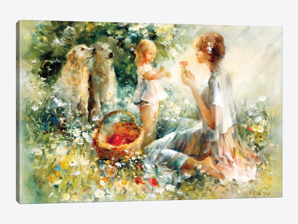 Picnic by Willem Haenraets 1-piece Canvas Print