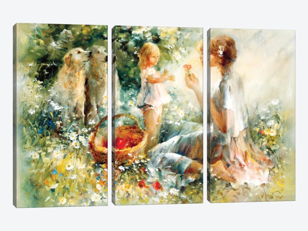 Picnic by Willem Haenraets 3-piece Canvas Print