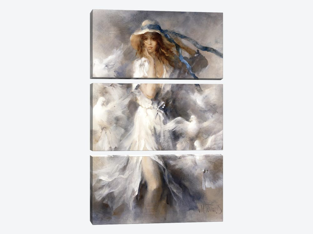 Pigeons by Willem Haenraets 3-piece Canvas Wall Art