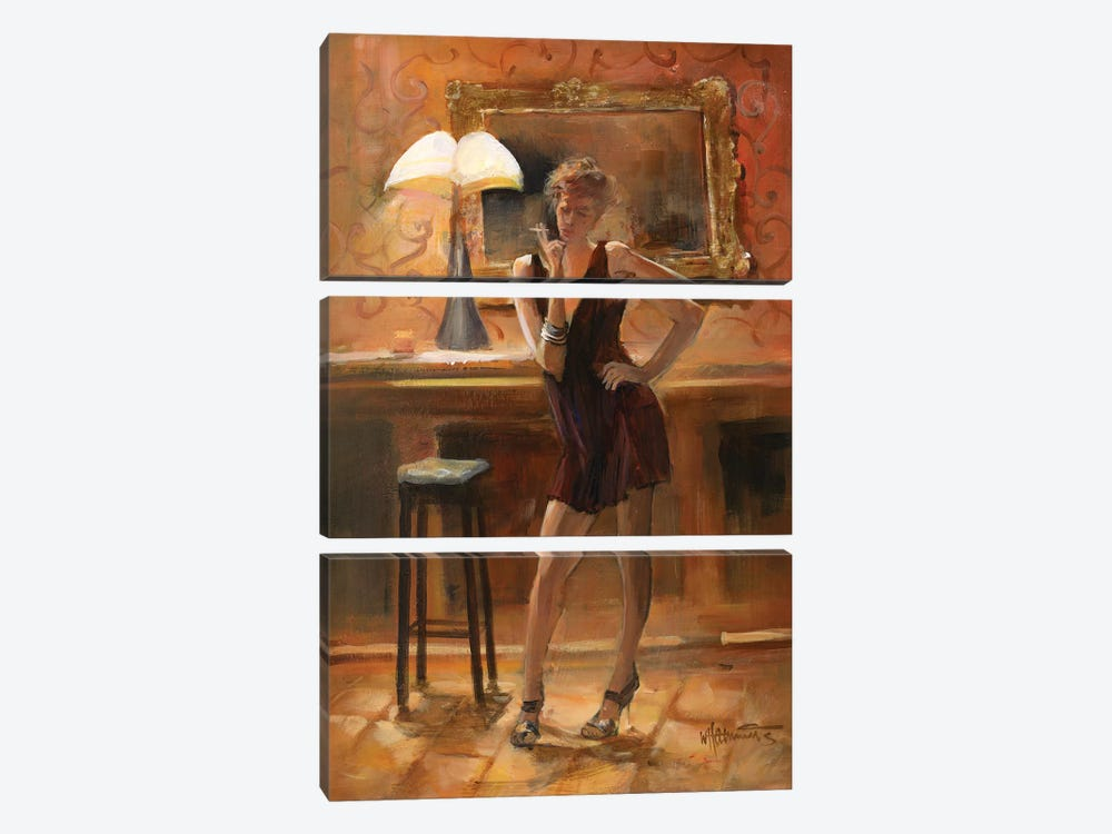 Relaxing At Home by Willem Haenraets 3-piece Art Print