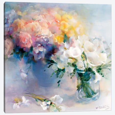 Rhyme Of Flowers Canvas Print #HAE209} by Willem Haenraets Canvas Artwork