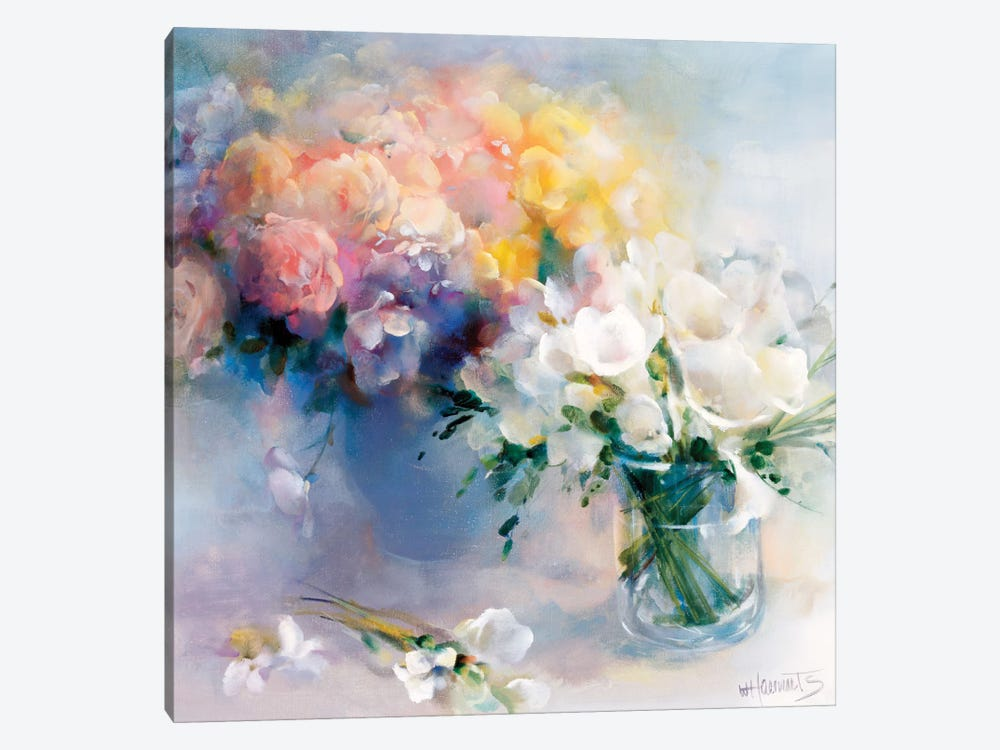 Rhyme Of Flowers by Willem Haenraets 1-piece Canvas Art Print