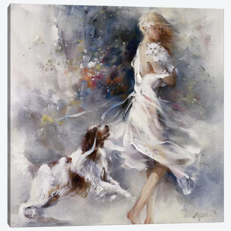 Rivalry Canvas Print #HAE210} by Willem Haenraets Art Print